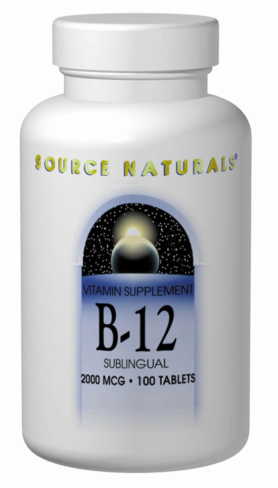 B-12 Vitamin - 2000 mcg - 100 Sublingual tabs