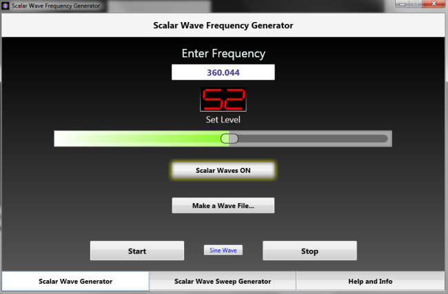 Scalar Wave Generator Software only